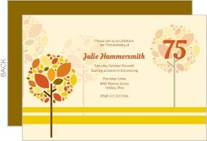 Autumn Trees Adult Birthday Invitation