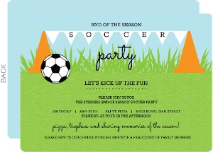 Cones and Flags Soccer Party Invitation