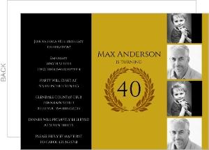 Golden Timeline 40th Birthday Invitation