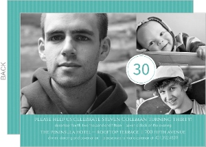 Turquoise Celebration 30th Birthday Invitation