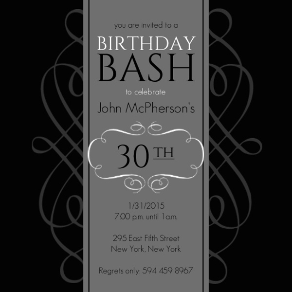 cheap 30th birthday invitations | invite shop, Birthday invitations