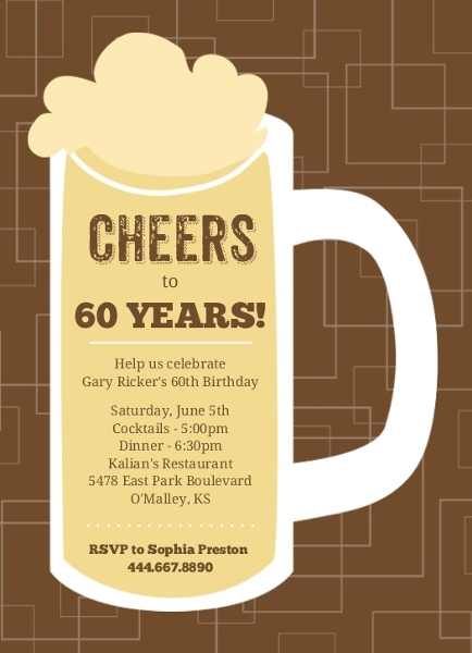 Cheap 60th Birthday Invitations – 60th Birthday Invites