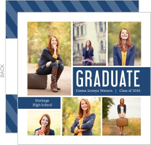 Modern Photo Collage Graduation Invitation