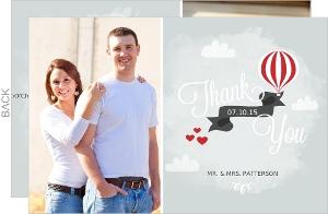 Sky High Love Wedding Thank You Card