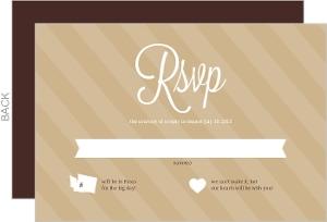 Brown Modern Statement Wedding Response Card