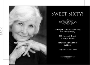 Sweet Sixty Birthday Invitation