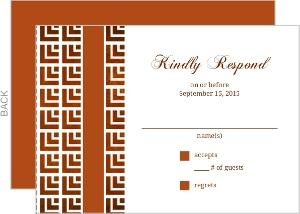 Geometric Pattern Wedding Response Card