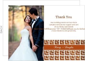 Geometric Pattern Wedding Thank You Card
