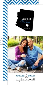 Modern State Heart Save The Date Card