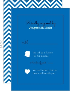Modern State Heart Wedding Response Card