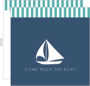 Rocking The Boat 50th Birthday Invitation