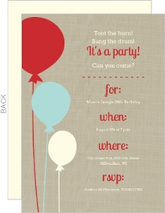Floating Balloons 30th Birthday Invitation