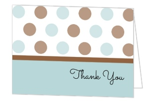 Its A Boy Polka Dot Baby Thank You Card
