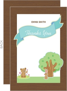 Woodland Animals Baby Thank You Card