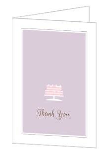 Pastel Princess Birthday Thank You Card