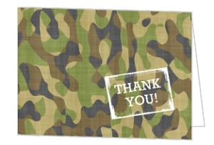 Army Party Birthday Thank You Card