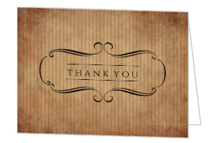 Aged Perfection Birthday Thank You Card