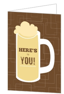 Brown Beers Cheers Birthday Thank You Card