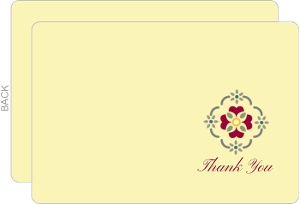 Cream Red Spanish Tile Birthday Thank You Card
