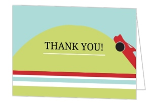 40th Over the Hill Birthday Thank You Card