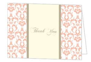 Peach and Texture Birthday Thank You Card