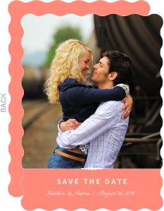 Floral Mint and Coral Save the Date Announcement
