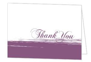 Black Purple Painted Anniversary Thank You Card