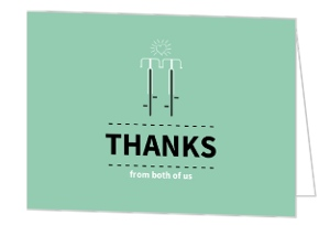 Matching Bikes Anniversary Thank You Card