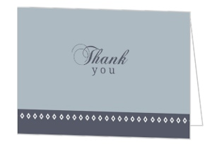 Gray-Blue Diamond Anniversary Thank You Card