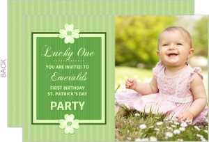 Lucky One St. Patrick's Day First Birthday Invitation