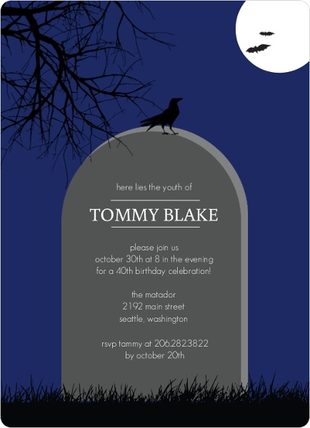 Cheap Scary Halloween Party Invitations Invite Shop – Scary Party Invitations