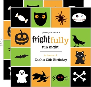 Cute Kids Halloween Birthday Party Invitation