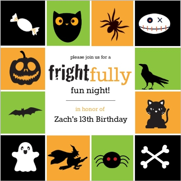 Cute Kids Halloween Birthday Party Invitation Invite Shop