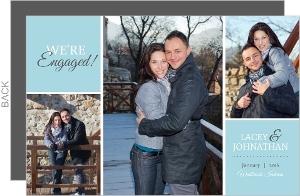 Blue Multiphoto Block Engagement Announcement