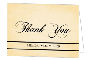 Yellow Vintage Anniversary Thank You Card