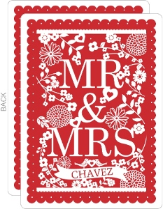 Papel Picado Style Wedding Anniversary Invitation