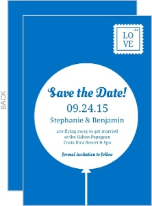 Fun Blue Balloon Save the Date