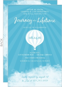 Lasting Journey Hot Air Balloon 40th Wedding Anniversary