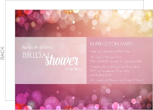 Pink Twinkle Lights Bridal Shower Invitation