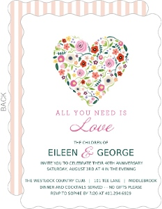 Budding Love 40th Anniversary Invitation