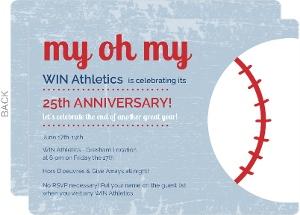 Baseball Corporate Anniversary Invitation