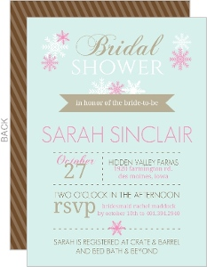 Mint and Pink Modern Bridal Shower Invitation