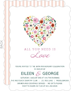 Budding Love 10th Anniversary Invitation