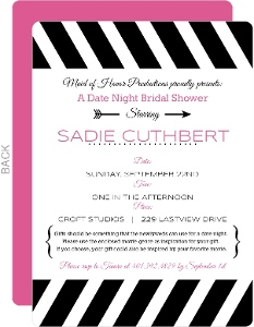 Black and White Date Night Bridal Shower Invitation
