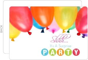 Birthday Balloon Bunch Party Invitation
