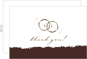 Coffee Stain A Perfect Blend Wedding Thank You Card