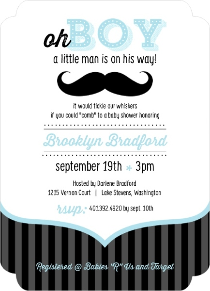 cheap boy baby shower invitations  invite shop, Baby shower