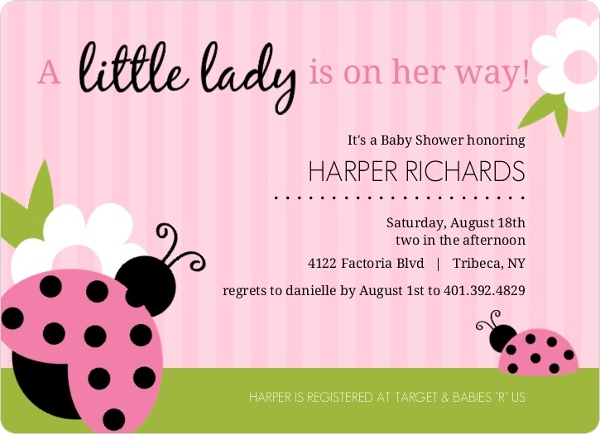 Cheap Girl Baby Shower Invitations - Invite Shop