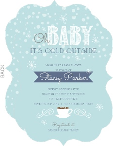 Its Cold Outside Winter Baby Shower Invitation