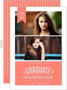 Coral Banner Graduation Announcement
